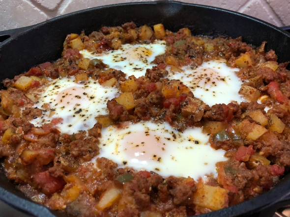 Picadillo and Baked Eggs