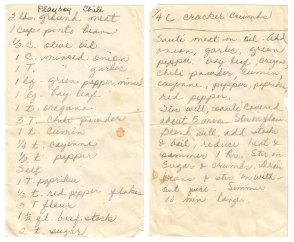 Playboy Chili Recipe